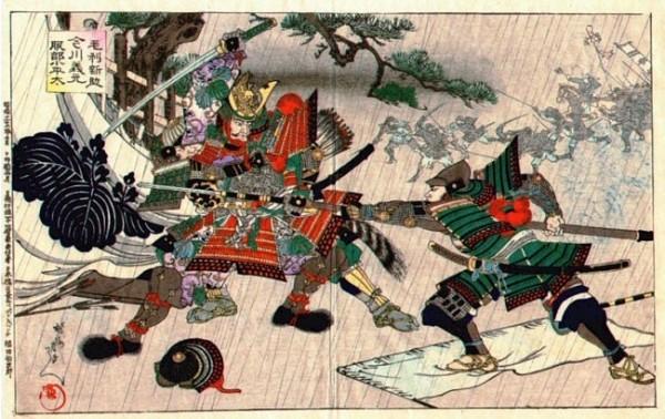 Painting of Samurai Battle